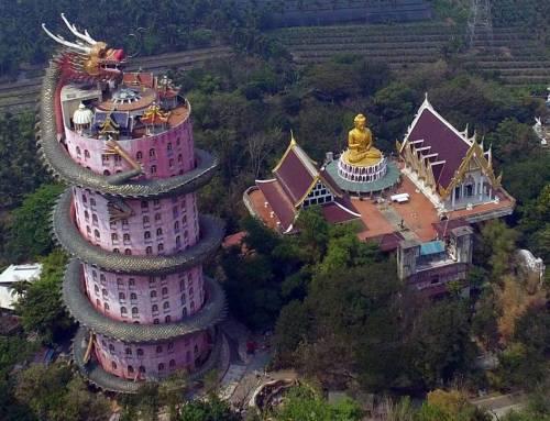 Đền rồng Wat Samphran – kiến trúc độc nhất vô nhị.